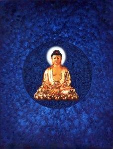 Healing buddha in meditation